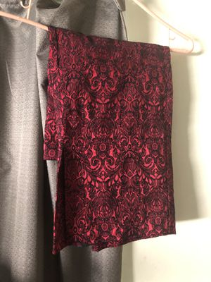 Red & Black Brocade Pencil Skirt for Sale in Torrance, CA