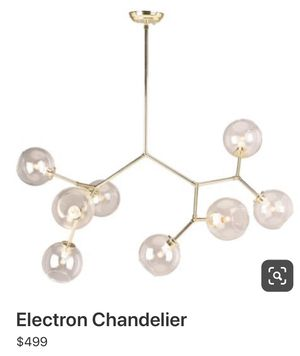 Electron Chandelier in gold for Sale in Costa Mesa, CA