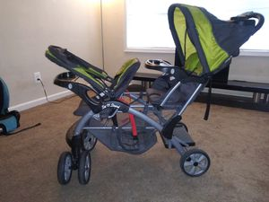 Baby Trend Sit n Stand double luxury stroller for Sale in Oxon Hill, MD