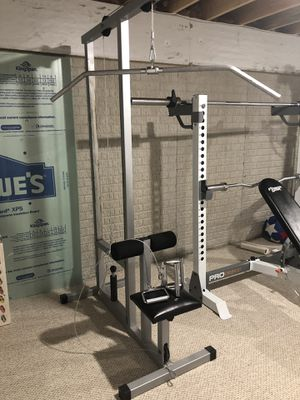 Pull-down machine multi-exercise home gym for Sale in Midway, PA