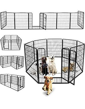 "(NEW) Heavy Duty 40"" Tall x 32"" Wide x 8-Panel Pet Playpen Dog Crate Kennel Exercise Cage Fence Play Pen for Sale in Ontario, CA"