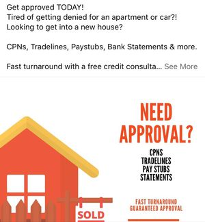 Check stubs,loan approvals, CPNs employment verifications. for Sale in Atlanta, GA