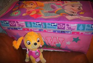 Paw patrol skye stuffed animal and toybox for Sale in Holiday, FL