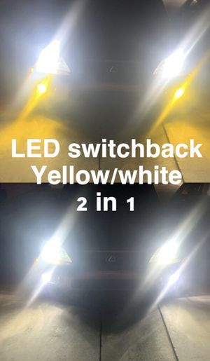 Led headlight or foglights switchback yellow/white 3000k/6000k 2 in1 LEDs for Sale in Los Angeles, CA