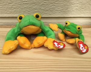 Vintage 90's Beanie Baby Smoochy Frog ~ And Teenie Smoochy for Sale in Fresno, CA