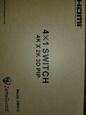 ZetaGuard 4x1 switch 4K x 2K 3D PIP for Sale in Tigard, OR
