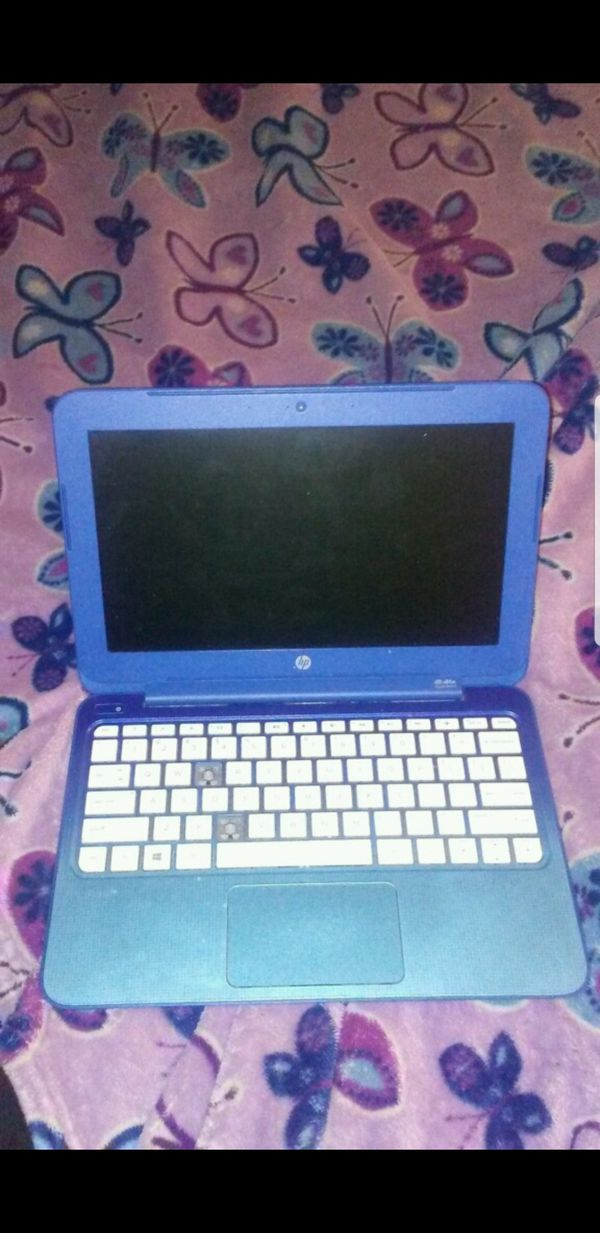 Hp laptop blue works good just missing a 2 keys