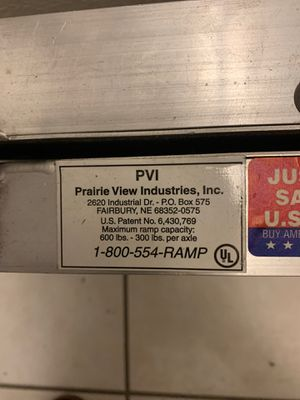 PVI Ramp for Sale in Dallas, TX