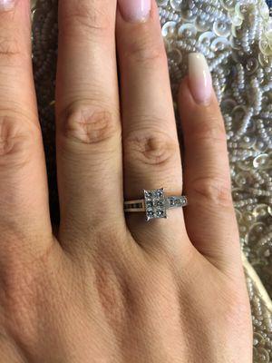 Platinum natural diamonds ring for Sale in Fresno, CA