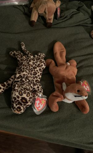 Original beanie babies freckles and sly for Sale in Newport News, VA
