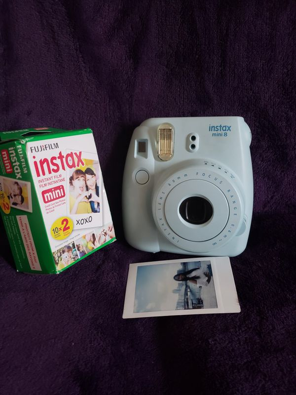 Instax mini 8 poloroid+films+selfie attachment