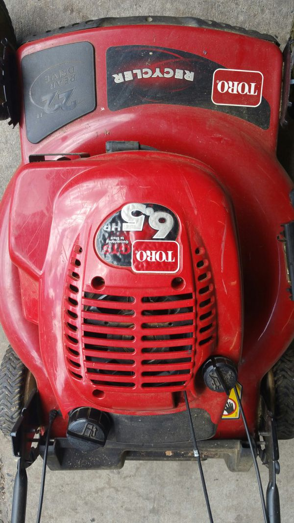 Toro self-propelled 22in Kick-Ass lawn mower