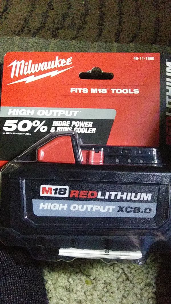Milwaukee M18 lithium battery for