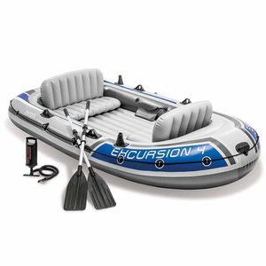BRAND NEW Intex Excursion 4, 4-Person Inflatable Boat Set with Aluminum Oars & High Output Air Pump for Sale in Ocoee, FL