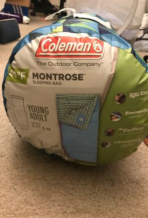Coleman Montrose Sleeping Bag 40℉ Young Adult for Sale in Jersey City, NJ