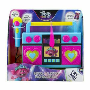 Trolls World Tour Sing Along Boombox with Microphone. Built in Music. Flashing Lights. Real Working Microphone. Connects to your MP3 Player Device. for Sale in Fort Lauderdale, FL