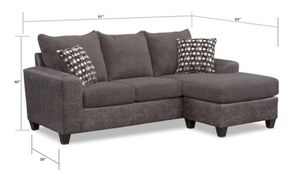 Like New Gray Sectional Sofa - 6/13 pick up for Sale in Chicago, IL