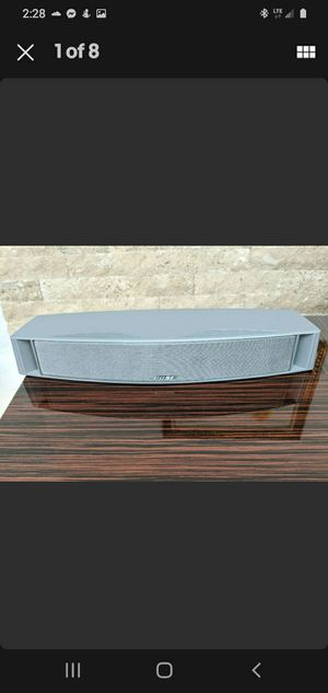 Bose VCS-10 Center Channel Speaker Silver Stunning Amazing Sounds! for Sale in Rustburg, VA