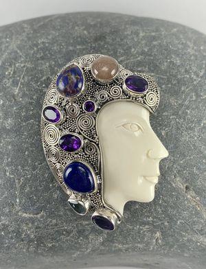 Multi Gem Sterling Silver Pendant for Sale in Thornton, CO