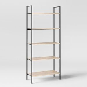 """72"""" Loring 5 Shelf Ladder Bookcase - Project 62™ Metal frame keeps things durable Mix of metal and wood with crisp lines brings a modern design 5 op for Sale in Arcadia, CA"""