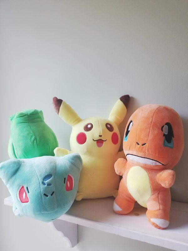 Pokemon Starter Plushies! • Pikachu • Charmander • Bulbasaur •