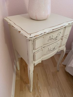 Shabby Chic Ivory Nightstand or Side Table for Sale in Vancouver, WA
