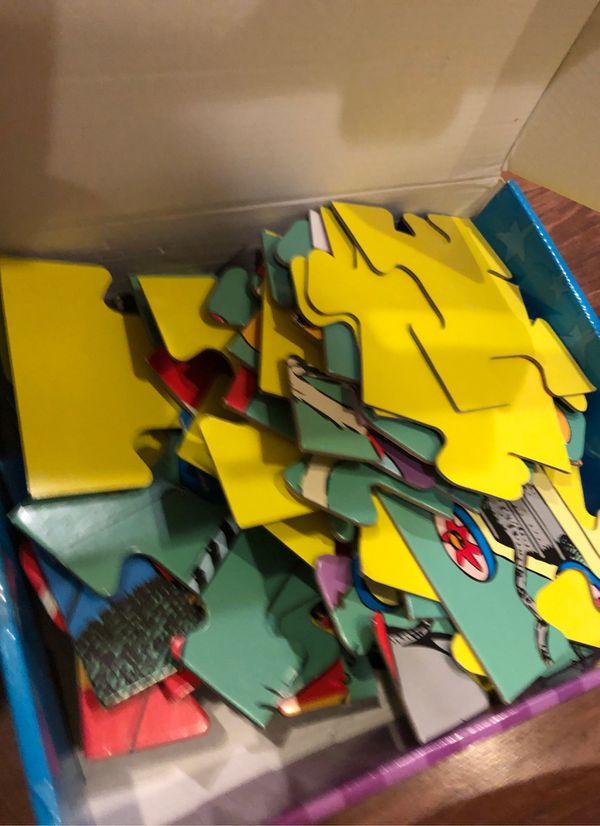 "Dr suess ""if I ran the circus"" floor puzzle - 48 pieces - preschool , homeschool, dr Seuss week"