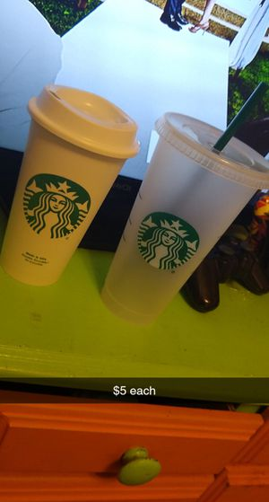 1 hot and cold Starbucks cups for Sale in Camas, WA