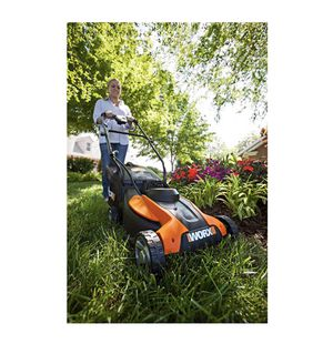 """New In Box Worx WG775 14"""" battery powered 24v 6000 sq ft per charge lawn mower for Sale in Austin, TX"""