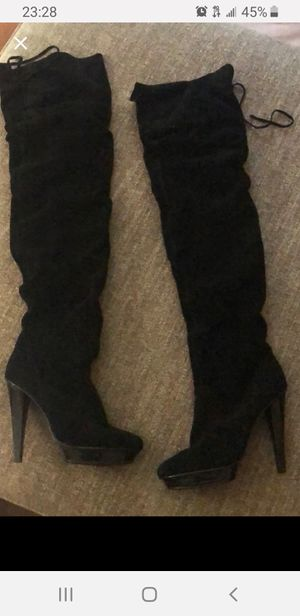 Black thigh high boots for Sale in Hanover, MD