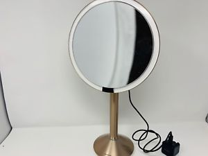 "simplehuman Sensor Lighted Makeup Vanity Mirror Pro 8"" Round Rose Gold Stainless Steel, Rechargeable and Cordless for Sale in Hinsdale, IL"