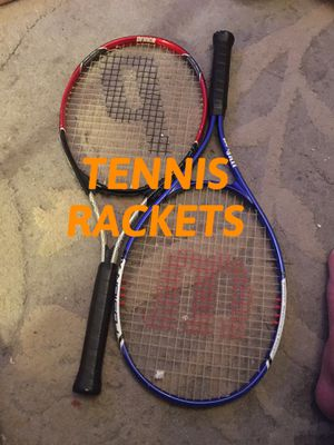 PAIR TENNIS RACKETS WILSON AND PRINCE for Sale in Winthrop, MA