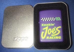 Vintage Sept 1995 Camel Racing Joe Purple Zippo LIGHTER IN TIN CASE 24 Years Old for Sale in Bridgeport, CT