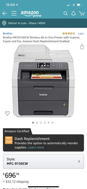 Brother printer for Sale in Ithaca, NY