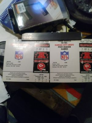 Unused Chief's tickets AFC Championship, January 23,1994 for Sale in Kansas City, MO