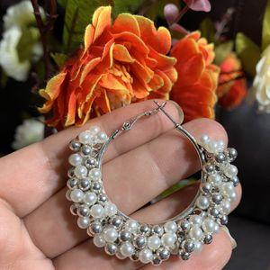 half moon pearl earrings . handmade for Sale in Arlington, VA
