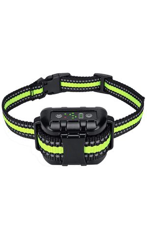 Dog Bark Collar with Adjustable Sensitivity and Intensity Beep Vibration, Rechargeable Waterproof Bark Control Training Collar, Humane Anti-Barking C for Sale in Irvine, CA