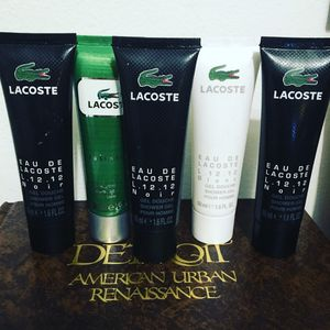 Lacoste men's shower gels (have around 30 sets of 5) never used for Sale in Grosse Pointe Park, MI
