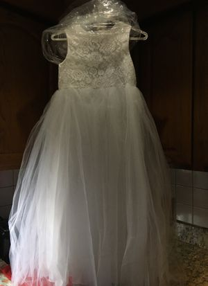 Girls white dress flower girl / communion for Sale in Arlington, MA