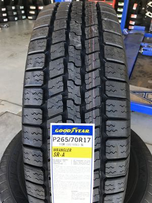 265/70/17 New set of Goodyear tires installed for Sale in Rancho Cucamonga, CA