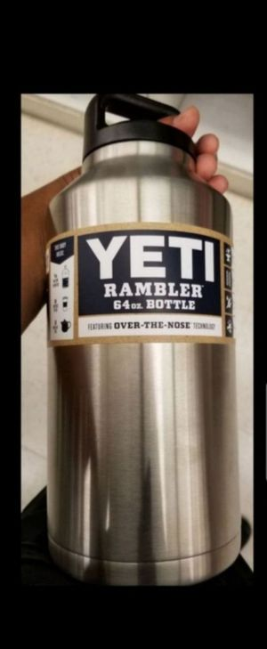 ASKING $65 PICK UP TOMORROW TUESDAY ONLY FOR $55 FIRM YETI RAMBLER 64oz. BOTTLE FIRM PRICE for Sale in Montebello, CA