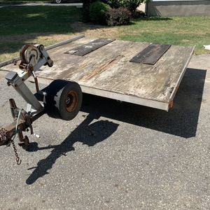 Snowmobile / Atv Tilt Trailer (8ft By 8ft) for Sale in Pompton Lakes, NJ