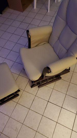 Glider Rocking Chair and Gliding Ottoman for Sale in Seminole, FL