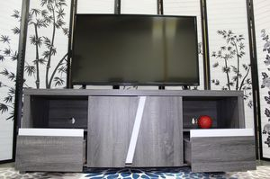 Tv Stand, Distressed Grey & White, 161822 for Sale in Bell Gardens, CA