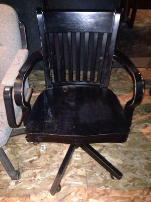 Wood antique very solid roll desk chair for Sale in Caledonia, MI