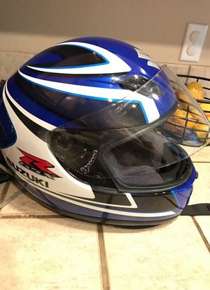 Suzuki motorcycle helmet size large great condition for Sale in Troutdale, OR