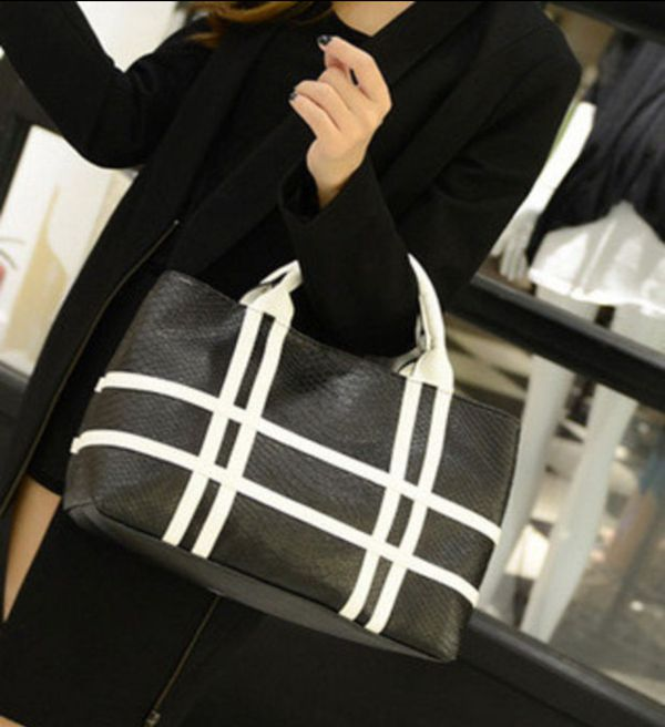 White and black or black and white purse