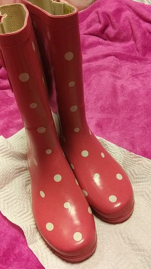 Pink polkadot rain boots for Sale in Pittsburgh, PA