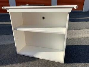 White solid wood one Shelf bookcase 3 by 4 for Sale in Costa Mesa, CA