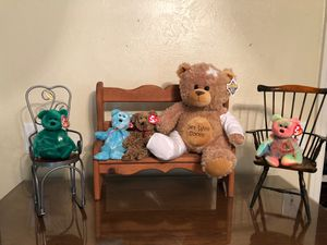 Precious teddy bears and furniture for Sale in Katy, TX
